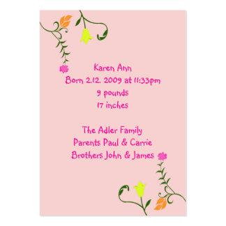 Tarjetas florales de la invitación del nacimiento plantillas de tarjetas de visita