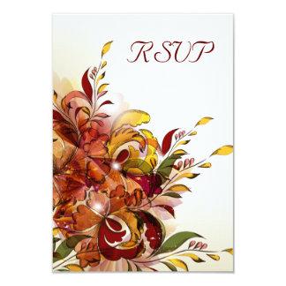 Tarjetas florales de RSVP del verano rojo Invitación 8,9 X 12,7 Cm
