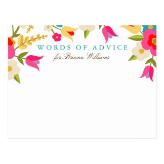 Tarjetas florales del consejo del graduado del tarjetas postales