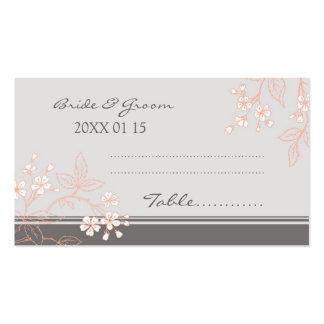 Tarjetas florales del cubierto de la tabla del bod tarjetas de negocios