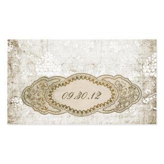 Tarjetas florales del lugar de la recepción del vi tarjetas de visita