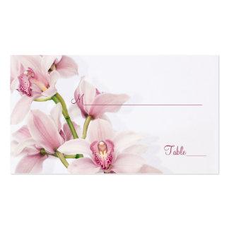 Tarjetas florales del lugar del boda de la tarjetas de visita
