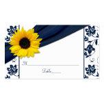 Tarjetas florales del lugar del boda del damasco tarjetas de visita