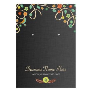 Tarjetas florales del pendiente del remolino tarjetas de visita grandes
