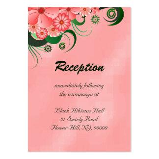 Tarjetas florales del recinto del boda del hibisco tarjetas de visita grandes