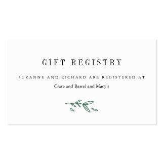 Tarjetas florales elegantes rústicas del registro tarjetas de visita