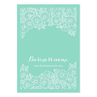 Tarjetas florales hermosas del pendiente del fondo tarjetas de visita grandes