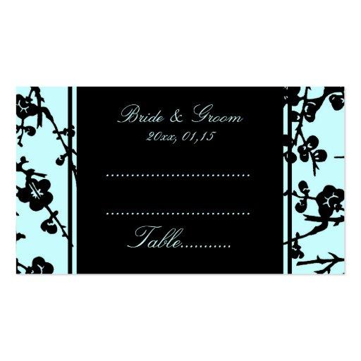 Tarjetas florales negras del cubierto del boda de tarjetas de visita