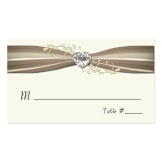 Tarjetas formales poner crema elegantes del lugar tarjetas de visita