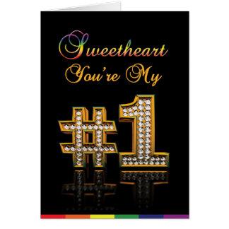 Tarjetas gay - amor del número 1