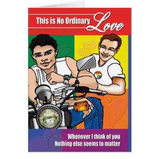 Tarjetas gay - ningún amor ordinario 02