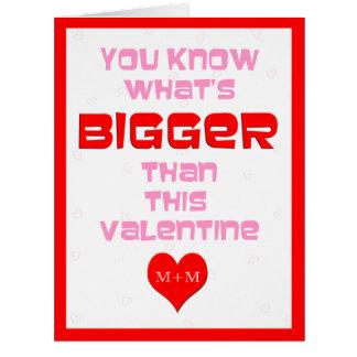 Tarjetas grandes del día de San Valentín personali