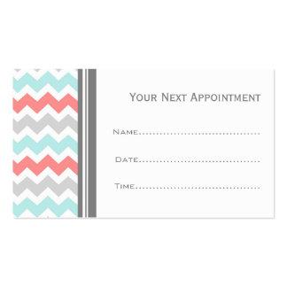 Tarjetas grises coralinas de la cita del salón de  tarjeta personal