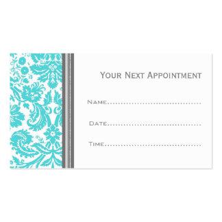 Tarjetas grises de la cita del salón del damasco tarjetas de visita