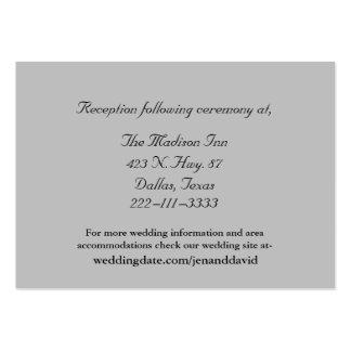 Tarjetas grises del recinto del boda tarjetas de visita grandes