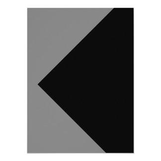 Tarjetas grises grises de la invitación de la invitación 13,9 x 19,0 cm
