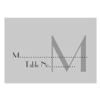 Tarjetas grises modernas del lugar del monograma plantilla de tarjeta de negocio