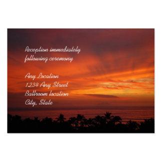 Tarjetas hawaianas ardientes de la recepción de la tarjetas de visita grandes