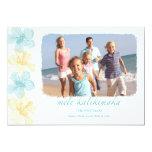 Tarjetas hawaianas de la foto del navidad de los invitación 12,7 x 17,8 cm