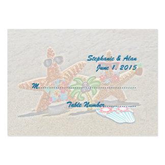 Tarjetas hawaianas del lugar del boda de los pares tarjetas de visita grandes