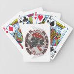 Tarjetas hechas americanas de las motocicletas del baraja cartas de poker