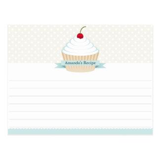 Tarjetas heladas blanco de la receta de la postal
