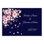 Tarjetas hermosas de Sakura RSVP de la noche Invitación 8,9 X 12,7 Cm