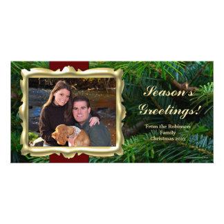 Tarjetas horizontales de la foto del navidad del m tarjetas fotográficas
