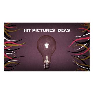 Tarjetas horizontales educativas de las ideas de tarjetas de visita