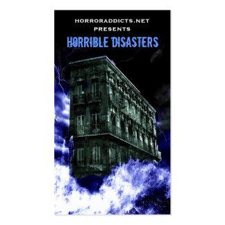 Tarjetas horribles de los desastres tarjetas de visita