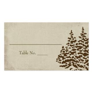 Tarjetas imperecederas del asiento del boda del tarjetas de visita