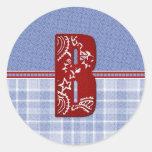 Tarjetas iniciales del pañuelo del dril de algodón etiqueta