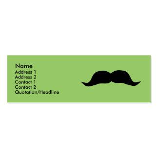 Tarjetas inmediatas del perfil del bigote tarjeta de negocio