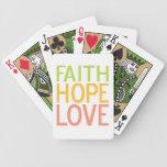 Tarjetas inspiradas cristianas del amor de la espe barajas de cartas