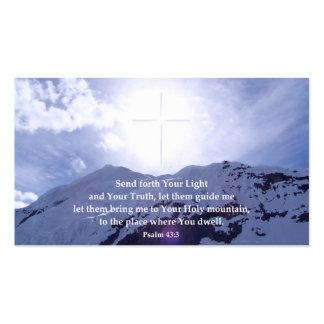 Tarjetas inspiradas de la cartera del salmo 43 plantillas de tarjetas de visita