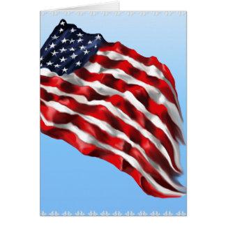 Tarjetas intrépidas de la bandera