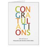 Tarjetas intrépidas de la enhorabuena de las letra