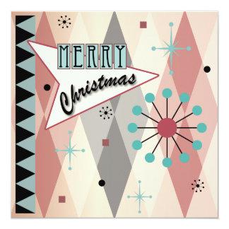 Tarjetas/invitaciones retras del navidad 01 invitación 13,3 cm x 13,3cm
