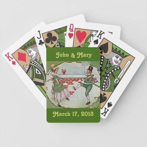 Tarjetas irlandesas de los bailarines cartas de juego