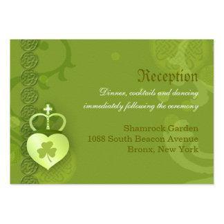 Tarjetas irlandesas del recinto de la recepción tarjetas de visita grandes
