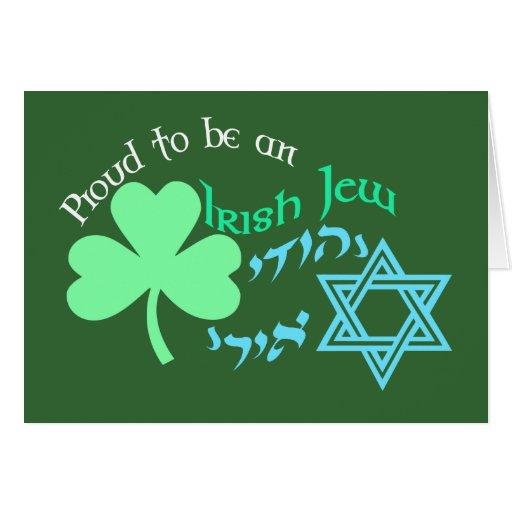 Tarjetas irlandesas orgullosas del judío