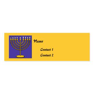 Tarjetas judías del contacto plantillas de tarjeta de negocio