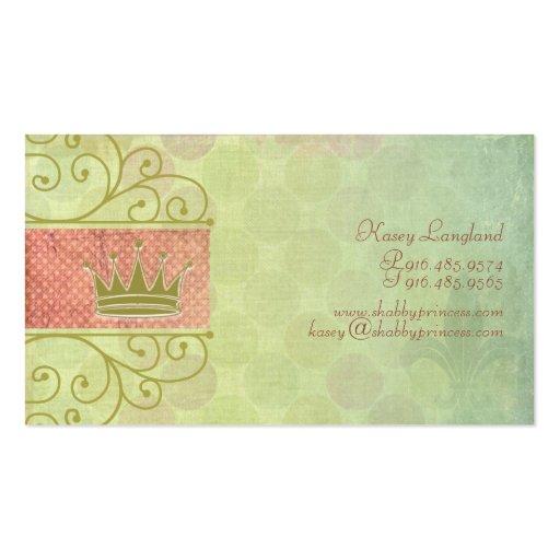 Tarjetas lamentables de la princesa visita tarjeta de visita