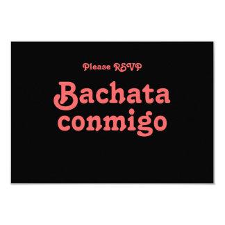 Tarjetas latinas de RSVP del baile de la salsa de Invitación 8,9 X 12,7 Cm