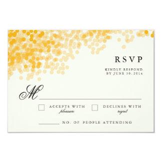 Tarjetas ligeras de oro de la respuesta de RSVP Invitación 8,9 X 12,7 Cm