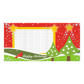 Tarjetas lindas de la foto de los árboles de navid tarjetas fotograficas
