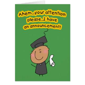 Tarjetas lindas de la invitación de la graduación
