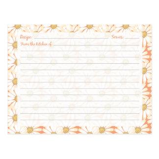 Tarjetas lindas de la receta de la margarita tarjetas postales