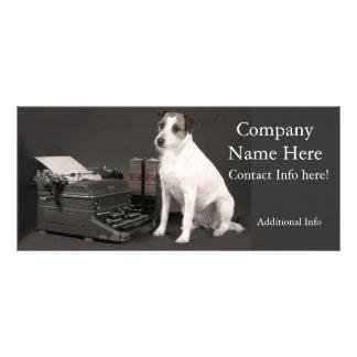 Tarjetas lindas del estante de los perros tarjeta publicitaria