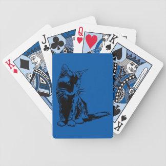tarjetas lindas del gato baraja cartas de poker